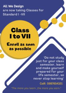 Tution Classes admission poster