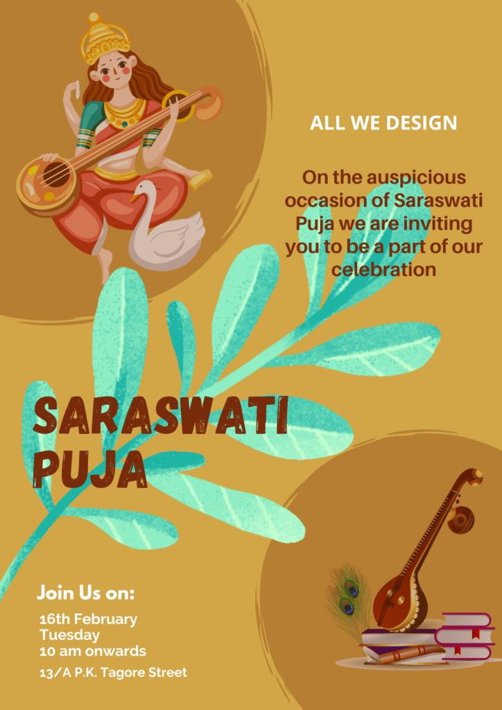 Saraswati Puja Poster