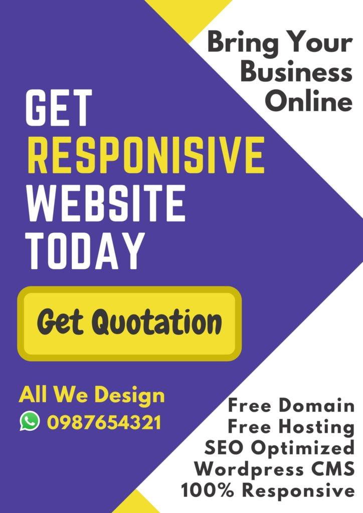 Website Design Poster