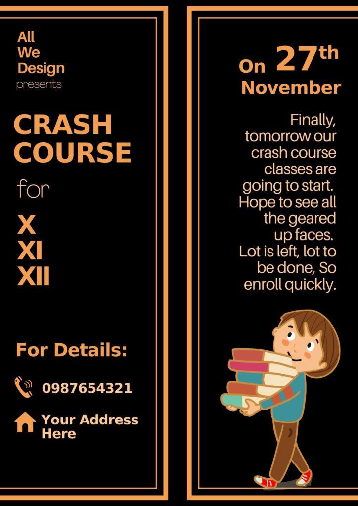 crash course poster